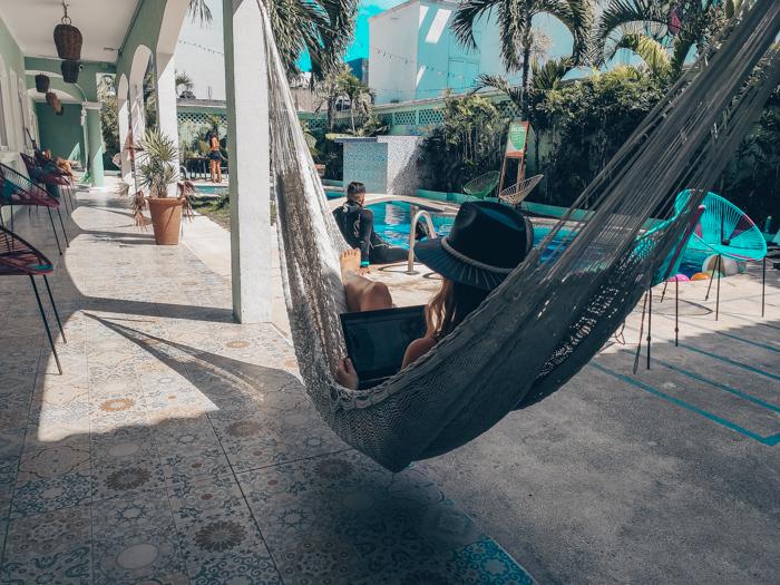 Digital nomad in Playa del Carmen