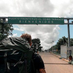 Z Mexika do Guatemaly skrz hraniční přechod El Ceibo