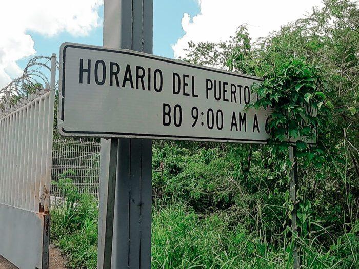 Opening hours of border crossing in El Ceibo