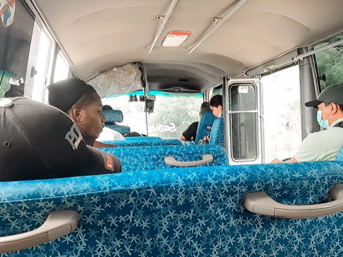 Bus from El Ceibo to Santa Elena